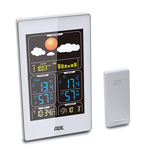 ADE Wetterstation WS 1400 mit Funk-Außensensor (weiß)