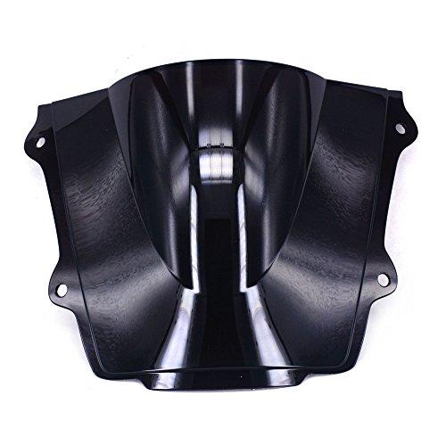 Un Xin Noir Pare-Brise Pare-Brise écran Double Bubble pour Honda Cbr600rr F5 2013 2014 2015
