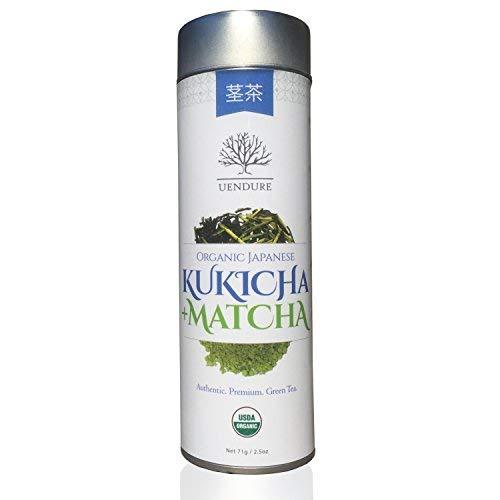 Kukicha Green Tea Stems with Matcha Powder by UEndure | USDA Organic | Japanese Loose Leaf Twig Tea | Gourmet Matcha Green Tea | Best Natural Detox Health Benefits | 71g (35 Servings)