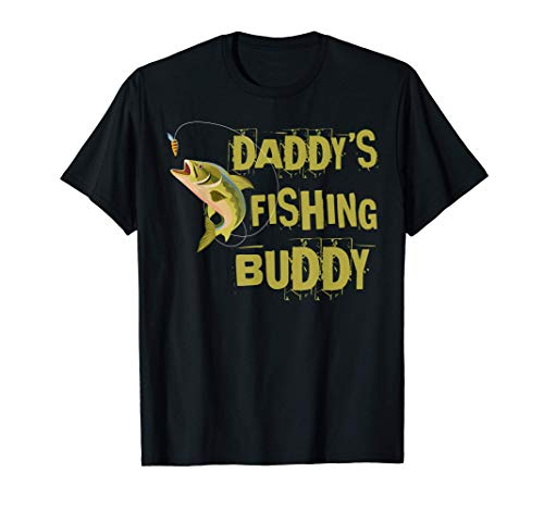 Daddy's Fishing Buddy Funny Kids Fisher Gift T-Shirt