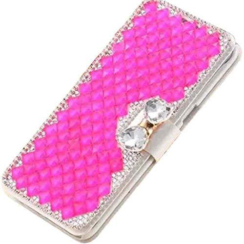Beautyfull - Funda para LG 2018 K10/K10+K10α/K11/K11+ con diseño de diamantes de cristal, color rosa