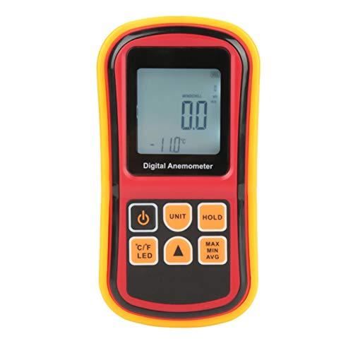 Anemometro Digitale Palmare LCD Misuratore di Velocità del Vento Tester di Velocità Dell'aria con Retroilluminazione Misuratore di Velocità del Vento Misuratore di Temperatura per Barche a Vela Windsu