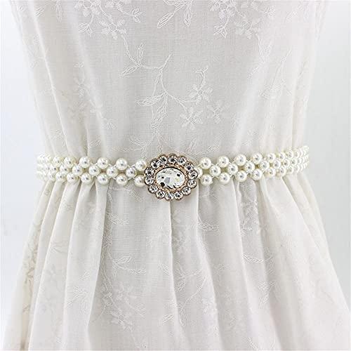 Nueva joyería del cuerpo del regalo para las mujeres moda faja cintura Link collares decorado cintura cadena Rhinestone perla cinturón accesorios novia aplique(02)