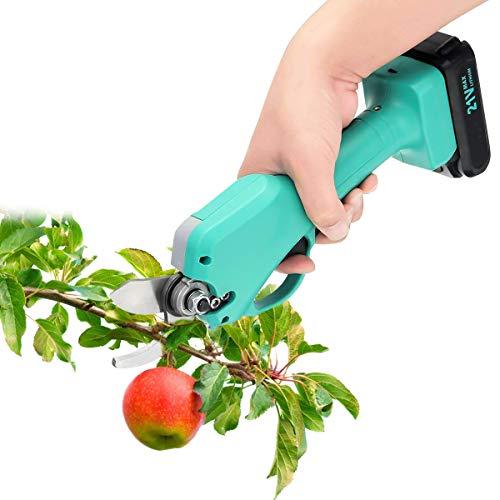Kacsoo - Tijeras de podar eléctrico inalámbrico de jardín, cortador de 25...