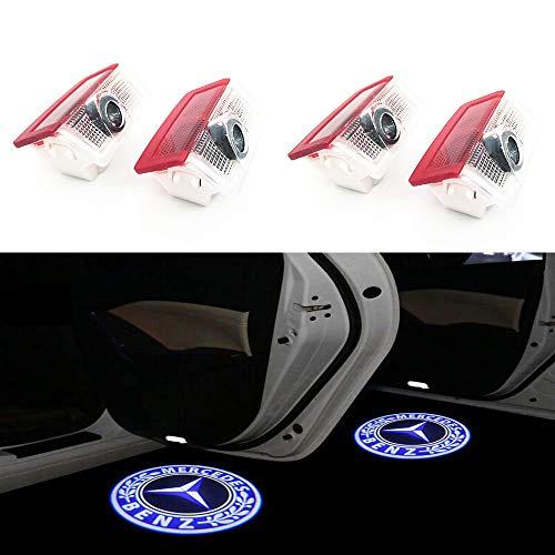 HConce 4x LED Einstiegsbeleuchtung Tür Licht Logo Projektor Licht Logo Leuchten (Für Benz Logo)