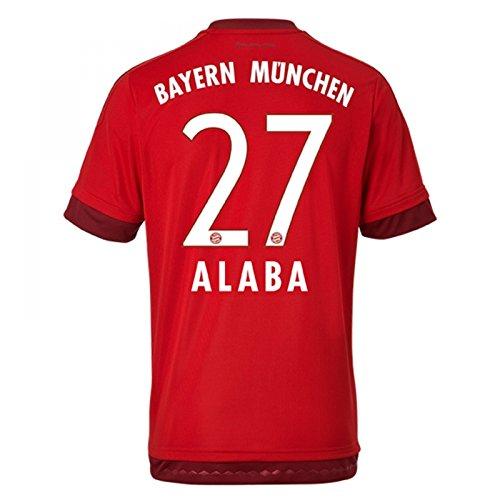 adidas Trikot FC Bayern München 2015-2016 Home (Alaba 27, XXL Boys - 34-36