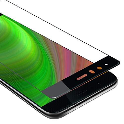 Cadorabo Película Protectora para Huawei P9 en Transparente con Negro - Pantalla de Vidrio Templado Cobertura Completa (Tempered) Compatible 3D con Dureza 9H