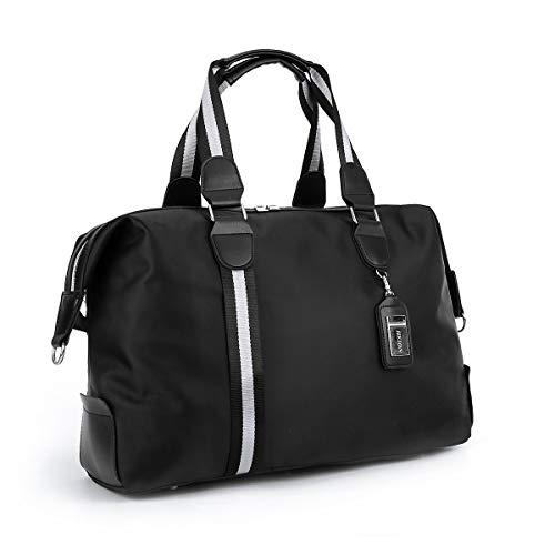 ANPTER Sac de Sport Sac Voyage Bagage Duffel Fitness Imperméables Travel Bag Gym Vacances Bandoulière Fitness Travail Weekender Oxford Sac à Main Femme Homme(Noir Sac de Voyage)