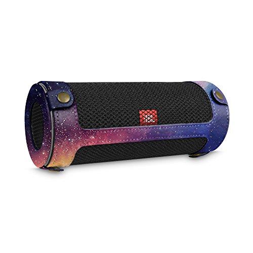 Fintie JBL Flip 4 draagbare luidsprekerhoes, afdekking, hoogwaardig kunstleer, beschermhoes, tas, case met karabijnhaak voor JBL Flip4, draagbare luidspreker, zwart Z-De Galaxy