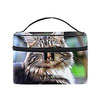 ネコ収納バッグ コスメポーチ 化粧ポーチ 洗面用具入れ トラベルポーチ 旅行 出張 収納 コスメバッグ コンパクト 超軽量