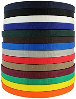 SGT KNOTS Polypropylene Webbing (1 inch - 2 inch) Lightweight (LW), or Heavyweight (HW) - Polypro Flat Rope - for Backpack...