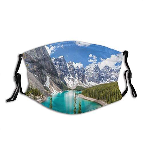 Gesichtsschutz Mundschutz Berg Moräne See Banff Nationalpark Kanadischer Tag Natur Kanada Bunte Alaska Ansicht Louise Sturmhaube Mit 2 Filtern