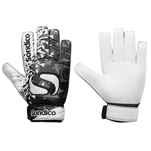 Sondico Unisex Match Torwart Handschuhe Schwarz/weiß UK 10