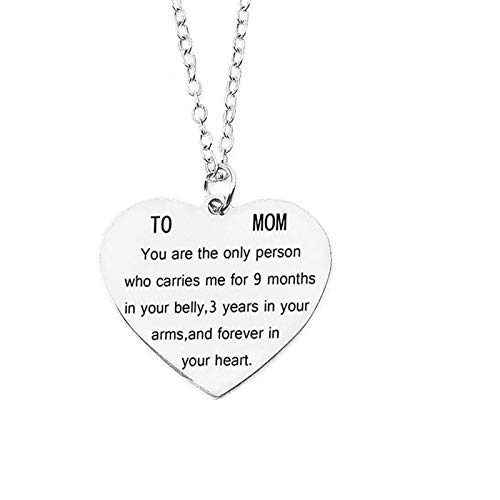 Gifts for Mom Women You Are the Only Person Heart Pendant...