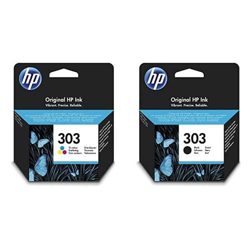 HP - 303 Cartuccia d'inchiostro tricolore + HP 303 T6N02AE Cartuccia Originale