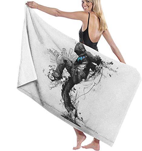 Ches Badetuch Wickeltuch Action Menger Print Damen Spa Dusche & Wrap Handtücher Bademantel Abdeckung für Damen Mädchen – Weiß, Siehe Abbildung, Einheitsgröße