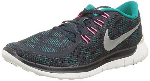 Nike Mädchen WMNS Free 5.0 Print, türkis/schwarz, 35.5 EU