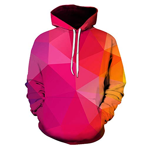 Gamlifing Unsex 3D Prints Pullover Pullover Atmungsaktive Hoodies Gemusterte Sweatshirts Hoodie Lustiger realistischer 3D gedruckter Kordelzug Kapuzenpullover Galaxy Jumper mit Kangaroo Pocket Outwear