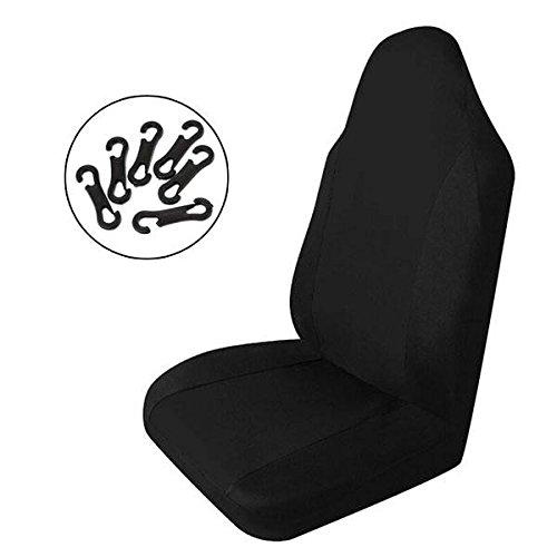 mark8shop Single schwarz universal Auto Vordersitzbezüge Polyester Stoff