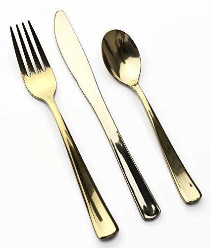 Tenedores Plastico Dorado Marca mozaik