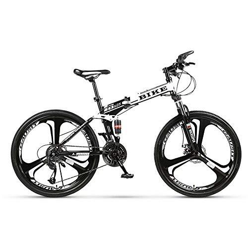 Novokart-Sport Pieghevole/Mountain Bike 24 Pollici 3 taglierina, Bianco