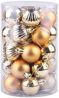SAPU 34 piece set Christmas ball set 6cm Christmas tree decoration ball Christmas decorations Gold