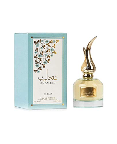Andaleeb - Botella de perfume árabe de 100 ml, aroma a almizcle dulce y afrutado