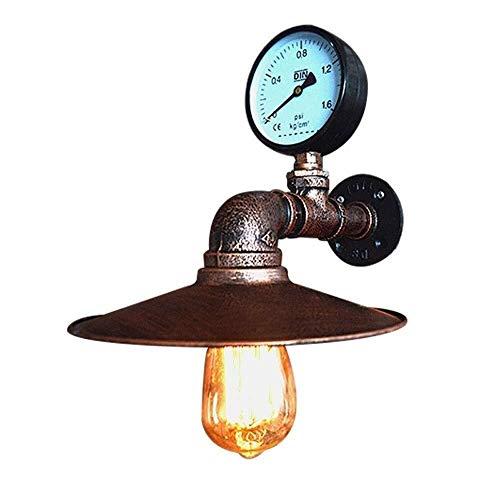 Lámpara de pared de iluminación para hoteles, restaurantes, escaleras, pasillos, decoración de la vivienda, de metal, tubo de agua, hierro, 29 x 23 cm, luz en el patio interior