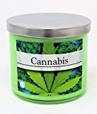 S&M Candle Factory Cannabis Soy Candle ~ Cannabis Flower/Marijuana/Weed Scented 3 Wick Candle ~ Made (14.5oz 3- Wick)