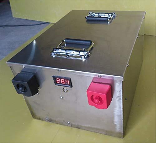SHUNBIN Lifepo4 Batterie 100ah 200ah 300ah 400ah 24V Lithium Ionen Batterie für Solar System/Wohnmobil/RV/Boot/Golf Carts/Elektroauto mit BMS (24V 200ah×1set with Quick Charger)