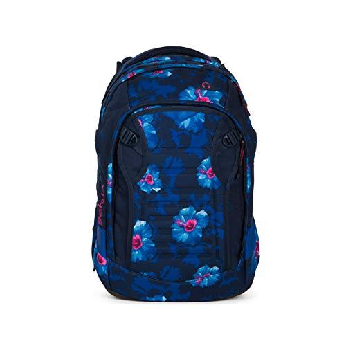 satch Match, Waikiki Blue ergonomischer Schulrucksack, erweiterbar auf 35 Liter, extra Fronttasche