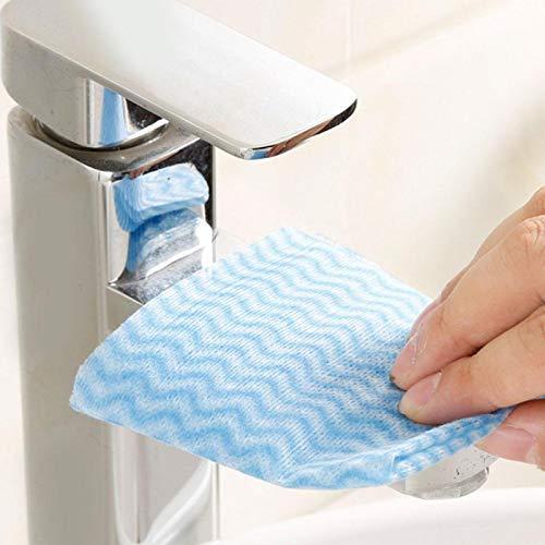Omabeta Paños para Platos de Aceite antiadherentes Paños de Limpieza de Cocina 80 Piezas Toalla de Cocina para Cocina Hogar Baño(Blue)