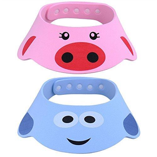 2 Stück Verstellbare Baby Shampoo Schild Kinder Schutz Badekappe mit Kappen Bad Dusche Hat