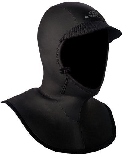 Hyperflex Wetsuits Men's Hood 5/3mm Bibbed Hood, Black, Small - Surfing, Windsurfing & Wakeboarding by Hyperflex