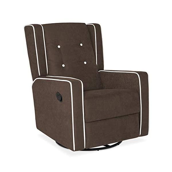 Best Choice Products Microfiber Tufted Mid-Century Velvet Upholstered Glider Recliner...