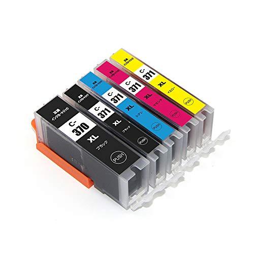 BCI-370XLBK BCI-371XLBK BCI-371XLC BCI-371XLM BCI-371XLY 5色セット ISO14001/ISO9001認証 キヤノン 対応の互換インクカートリッジ 残量表示機能付