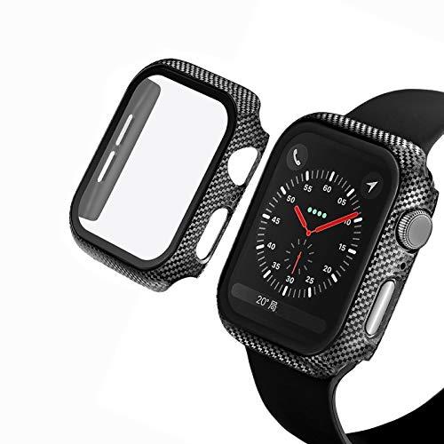 TKPOLD Caso Compatible Apple Watch Series 6 SE Filma de Vidrio de 44 mm 40 mm con Protector de Pantalla Cobertura Completa para iWatch 6 5 4 3 2 42mm 38mm