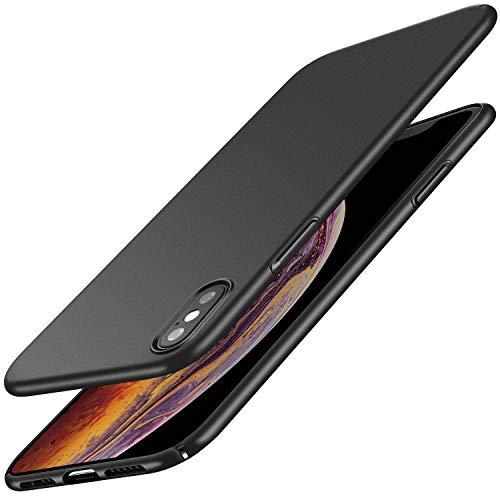 RANVOO Dünne Hülle Kompatibel mit iPhone X/iPhone XS, Matt Schlank Hardcase Ultra Slim Anti-Fingerabdruck Leicht Case Schutzhülle Schale Cover Handyhülle für iPhone X/XS, 5,8