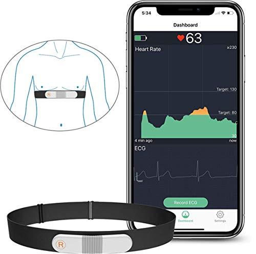 ViATOM Pulsómetro, Bluetooth/Ant+ HRM Run, Portatil ECG Monitor Correa de Pecho, Impermeable ANT+ Fitness Tracker con… 1