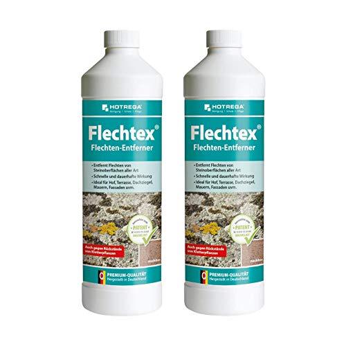 HOTREGA Flechtex Flechten Entferner 2 L, Pilz-Entferner, Algen-Enferner, Flechtenentferner, Algenentferner