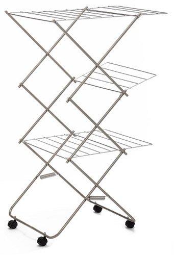 大木製作所 洗濯物ハンガー シルバー 使用時:約巾57×奥行75×高さ122cm
