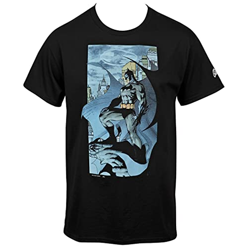 Camiseta Batman The Dark Knight Returns Gárgula Jim Lee com imagem de quadrinhos, Preto, 3X-Large