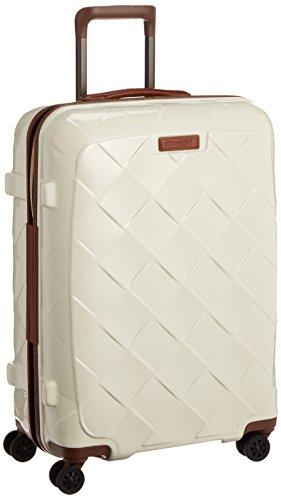 [ストラティック] スーツケース ジッパー レザー&モア グッドデザイン賞 静音双輪キャスター 保証付 65L 66 cm 3.43kg ミルク