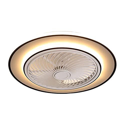 Ventilador De Techo Invisible Con Iluminación, Comedor Regulable Ventilador De Luz De Techo Con Control Remoto, 3 Velocidad, Lámpara De Fan Silencioso Para Sala De Estar Cuarto