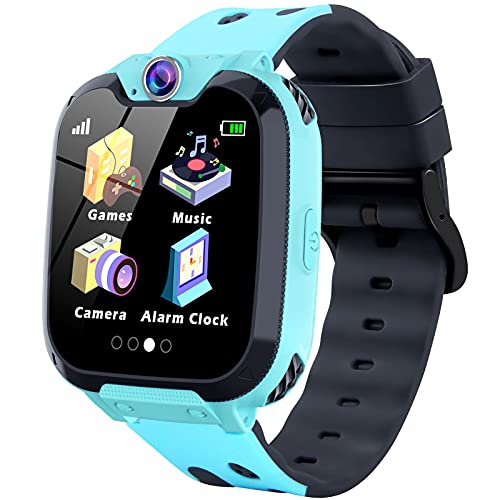 Smartwatch for Kids-Kids Smart Watch with Clock Phone for Girls Boys HD Touchscreen with Call SOS Music Player Games Camera Calculator Alarm Clock Smart Watch Birthday Gifts for Kids Age 4-12