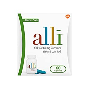 alli Diet Weight Loss Supplement Pills, Orlistat 60mg Capsules Starter Pack, 60 count 2