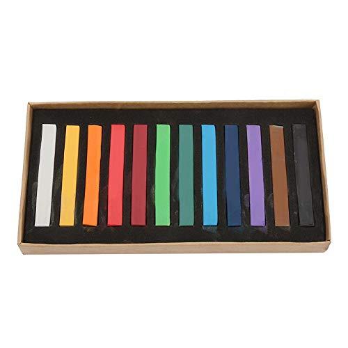 ソフトパステルセット 正方形パステルチョーク 正方形アーティストパステルセット 非毒性 12個入り 24個/36個/48色詰め合わせ