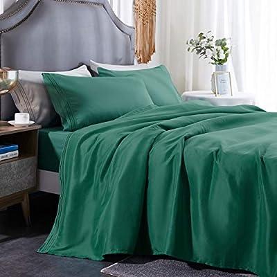 Three Geese Queen Green Bed Sheet Set-1800 Seri...