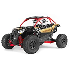 1/18 scale radio control side-by-side all-terrain vehicle, primed for RC rock racing adventure right out of the box and includes everything you need Features adjustable coilover oil-filled shocks, metal gear servo, 37T 380 waterproof brushed motor, a...