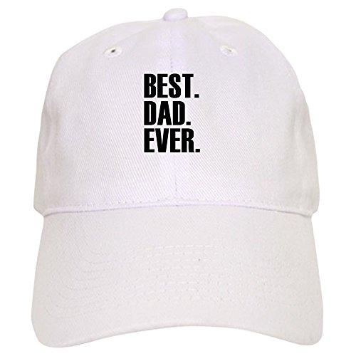 CafePress Best Dad Ever Baseball Cap Baseball Cap with Adjustable Closure, Unique Printed Baseball Hat White